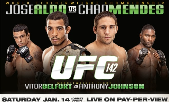 UFC 142: Jose Aldo vs. Chad Mendes weigh in/full results ...