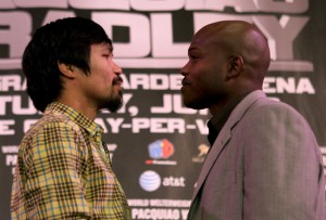 139459232 crop 650x440 300x203 Manny Pacquiao vs. Timothy Bradley: Los Angeles Press Conference Highlights
