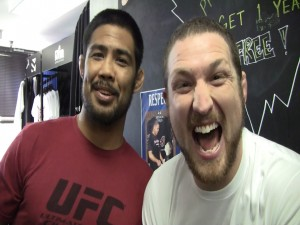 mark and mayhem  300x225 The story of how Mark Munoz and Jason Mayhem Miller became friends
