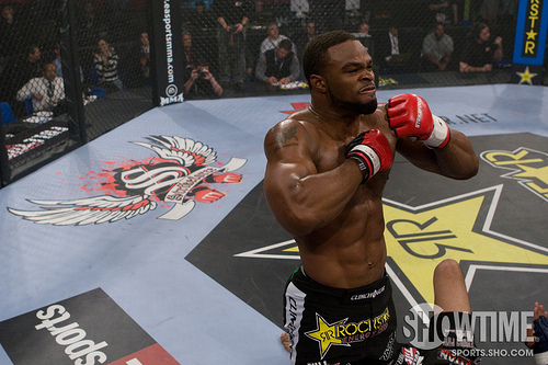 tyron woodley Tyron Woodley 100% believes he beat Jake Shields at UFC 161.